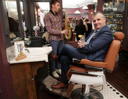 Timmy Ryan pictured at the Prohibition party at Sam's Barbers on Dame Lane as Anchor Sprits Ireland hosted a Prohibition style gin, launching 'Best Irish Gin 2015'