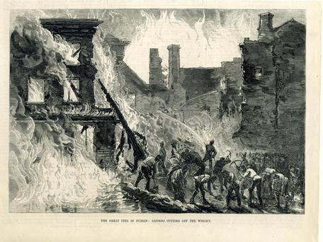 Spirited effort: The fire of 1875 blazes through Dublin's Liberties