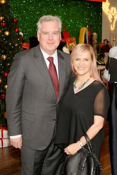 Donald McDonald, MD of the Arnotts store, pictured with Melanie Morris, Editor in Chief of Image Publications.