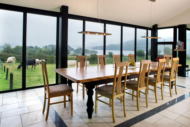 The house overlooks Lough Gill and the landscape is the inspiration for four of Yeats's poems. The table is from the Marist refectory