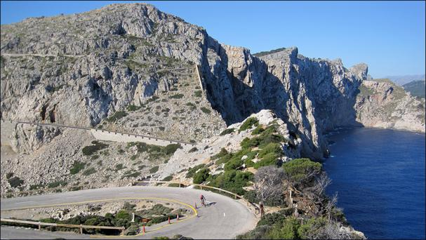 David Conachy on the Sa Calobra: 'You cycle up through the rocks where the roads rise and twist like a corkscrew over and back for just over 2,000 feet over the course of six miles'