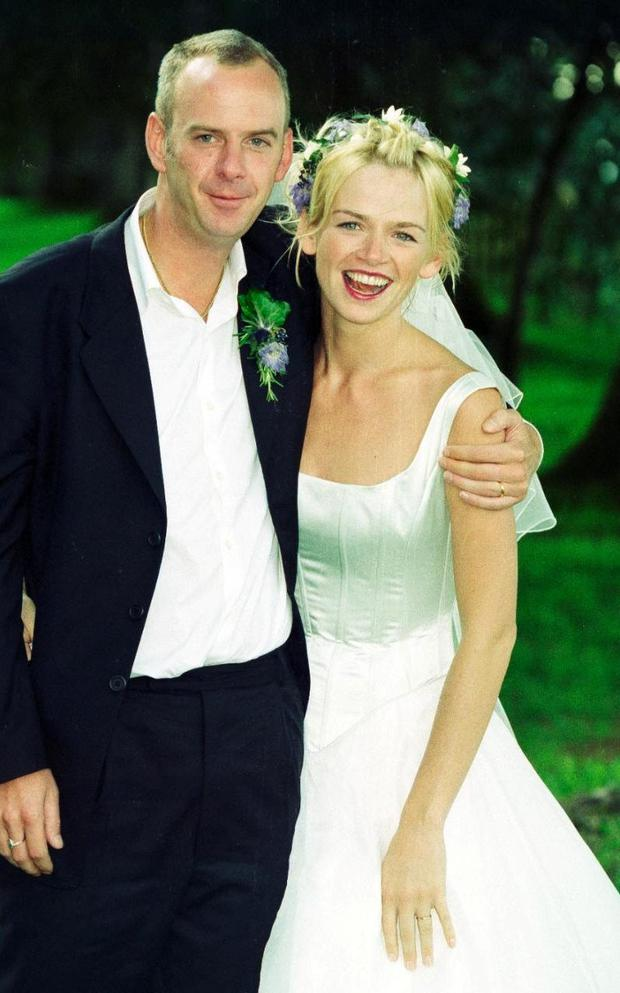Norman Cook and Zoe Ball on their wedding day in 1999