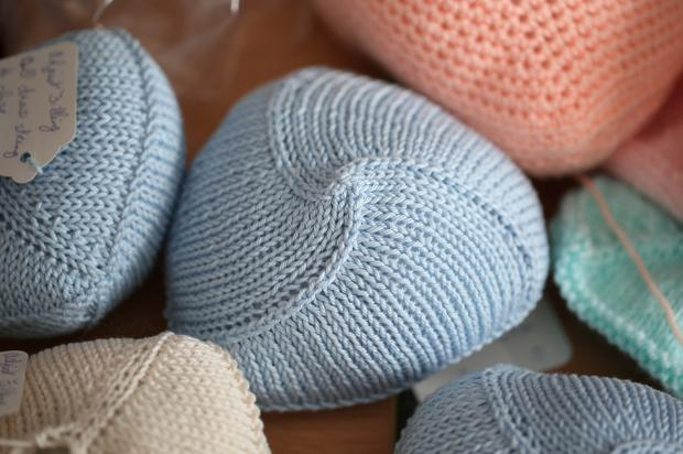 Knitted knockers. Photo: Fran Veale