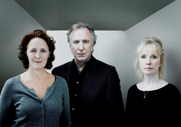 Fiona Shaw with Lindsay Duncan and the late Alan Rickman in the play John Gabriel Borkman at the Abbey