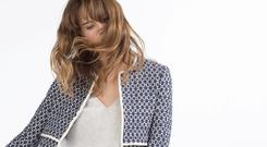 That coat: the tile-patterned coat from Zara, €79.99