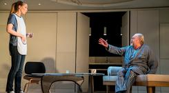Owen Roe and Sophie Robinson in 'The Father'