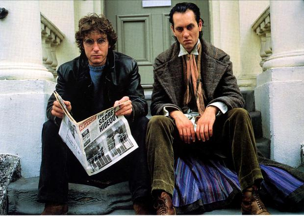 Richard as Withnail in the career-defining Withnail and I, alongside Paul McGann