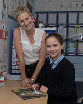 Performers: Geraldine Galligan, who is vice principal at Glenswilly National School in Letterkenny, Co Donegal, with her daughter Eve (11). Photo: North West Newspix