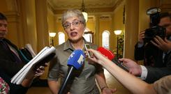 Quick rise: Minister for Children Zappone at the launch of an Early Childhood Ireland report. Photo: Frank Mc Grath