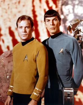 In Gulliver's footsteps: William Shatner and Leonard Nimoy as Kirk and Spock