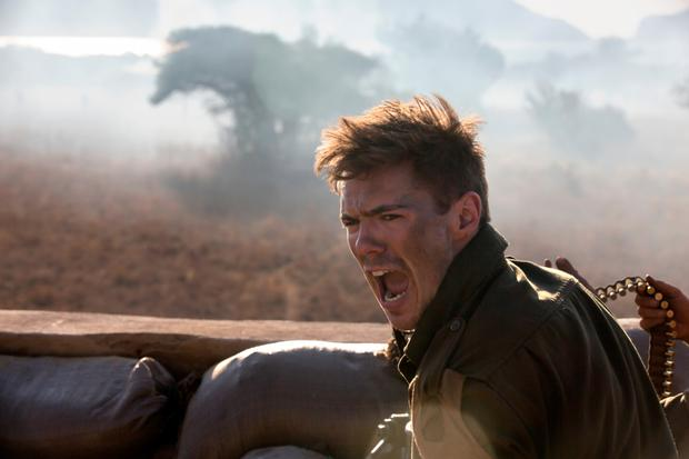 Sam Keeley as Bill (Sniper) Ready in The Siege of Jadotville, picture Netflix