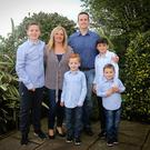 Family: Alison and Dave Fleming with sons James, Jonathan, Daniel and David Photo: Picture: Garry O'Neill