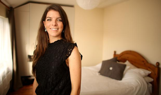 Digging it: Laura Farrington rents out a spare room in her home to third-level students to supplement her mortgage repayments. Photo: Gerry Mooney