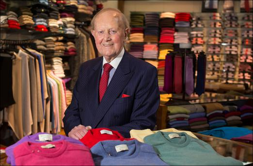 Tom Monaghan founded his cashmere specialist business with his wife Tess in 1960. Photo: Dave Conachy