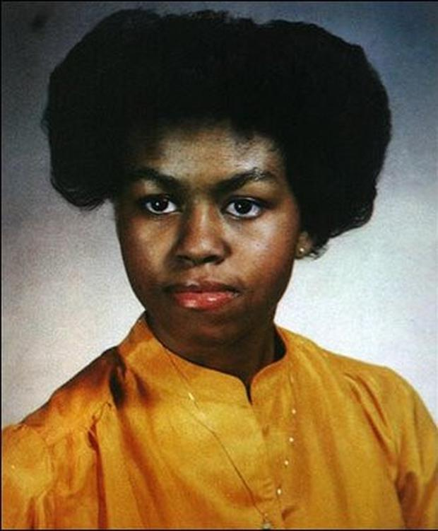 MIichell Obama as a teenager