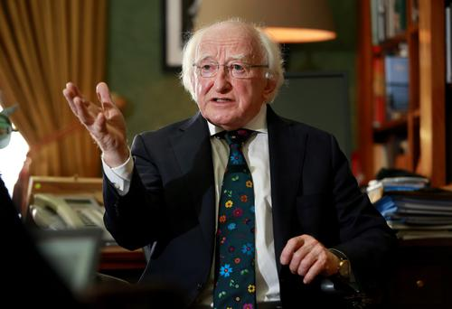 Verbose evasion: Michael D Higgins has been coy about whether he will run for a second term Photo: Frank Mc Grath