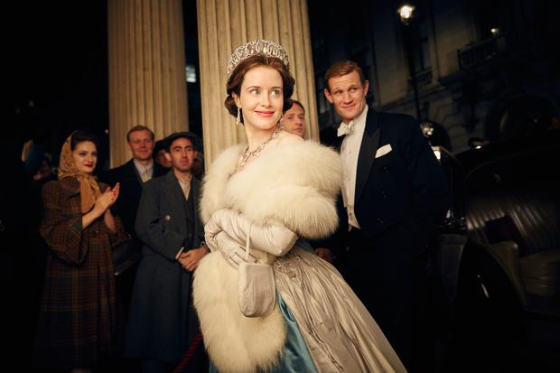 Real life: Claire Foy as Queen Elizabeth II and Matt Smith as Prince Philip in Netflix series 'The Crown'