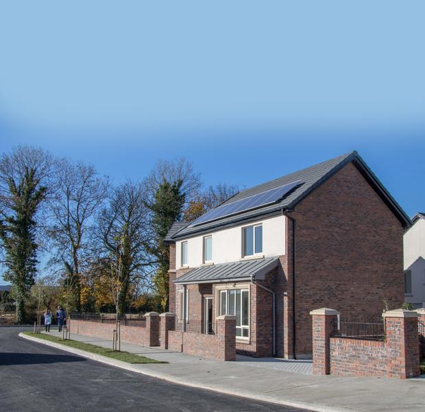 A combination of brick, render and zinc on the exterior give the Carton Wood homes a traditional feel