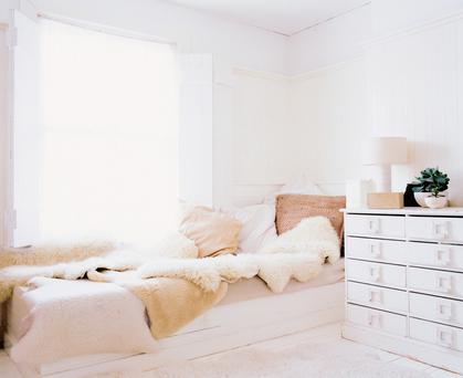 A 'Hygge' styled bedroom