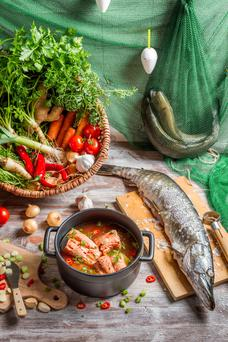 Small amounts: The Mediterranean diet is thought to contain a large amount of fish, but according to Dr Estep, the Med is very poor in fish stocks