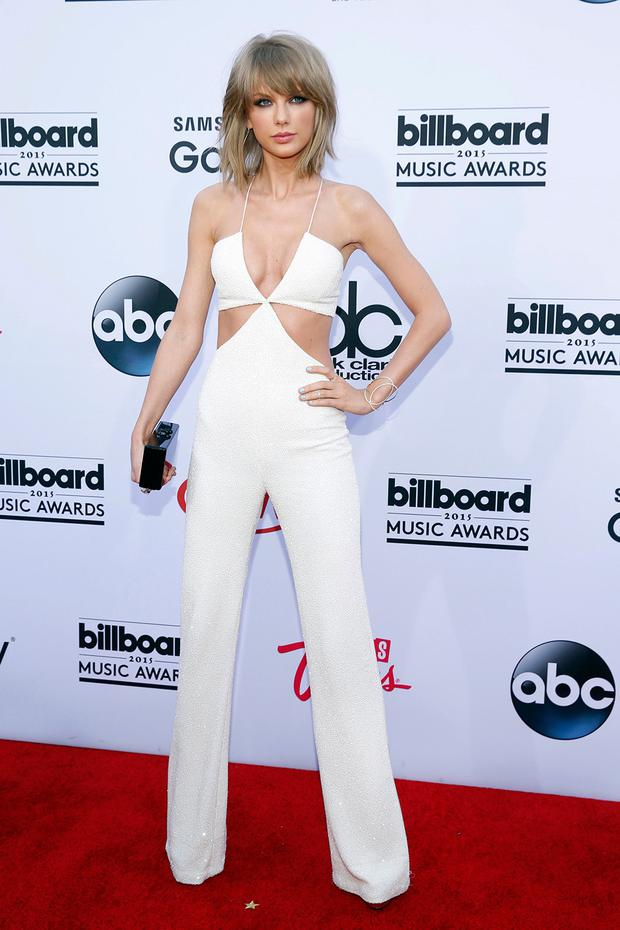 Designer: Taylor Swift in her Balmain jumpsuit, not the Nasty Gal knock-off