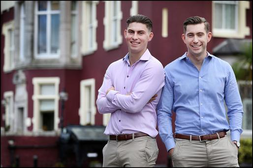 Mark (right) and Joe Scott-Lennon are managers at their family-owned hotel. Photo: Steve Humphreys