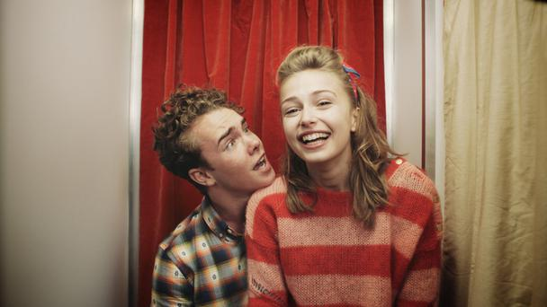 Ross McCormack and Sophie Simnett as the teenage Singe and Kate in 'Mum's List'