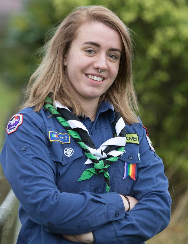 Growing: Aoibhinn Moyne (19), a Rover Scout and Young Leader from Carndonagh, Co Donegal Photo: North West Newspix