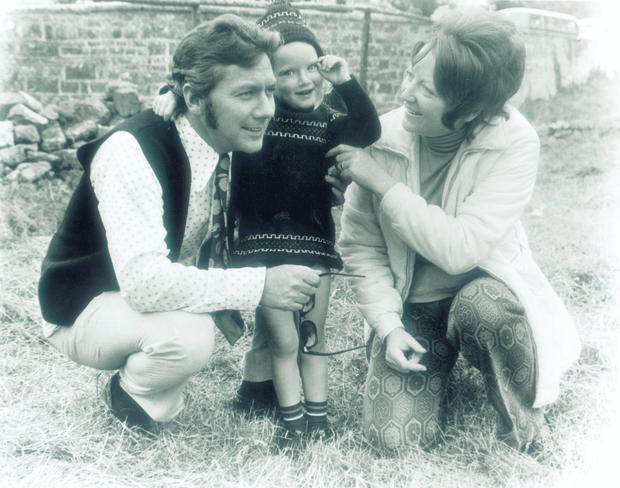 Gay Byrne with his wife Kathleen Watkins and daughter Crona at Galway Oyster Festival in 1966. Photo courtesy Connacht Tribune.