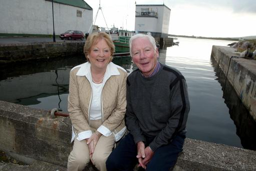 Gay Byrne celebrating his 70th birthday with his wife Kathleen