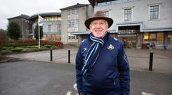 Break from the boarders: Principal Oliver Murphy outside Castleknock College. Photo: Tony Gavin