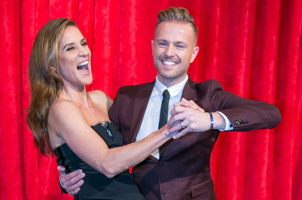 In the swing: Amanda Byram and Nicky Byrne are the new hosts of RTE's new Show Dancing with the Stars