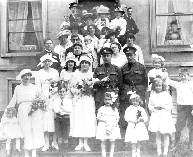 Dun Laoghaire parishoners: Ethel and Rowland Crossley on their wedding day.