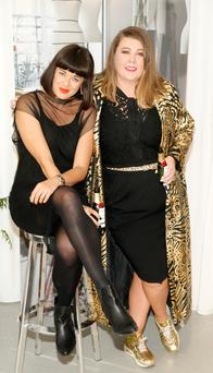 Fiona Mullen, with her pal, the Queen of Nails Andrea Horan. Photo: Kieran Harnett