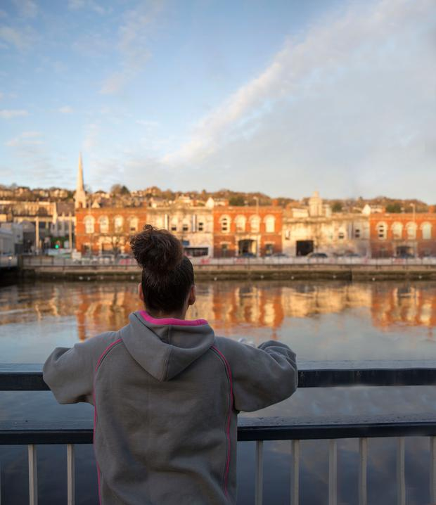 Waiting for a chance: Rosie in Cork who faces spending Christmas without her daughter. Photo: Clare Keogh