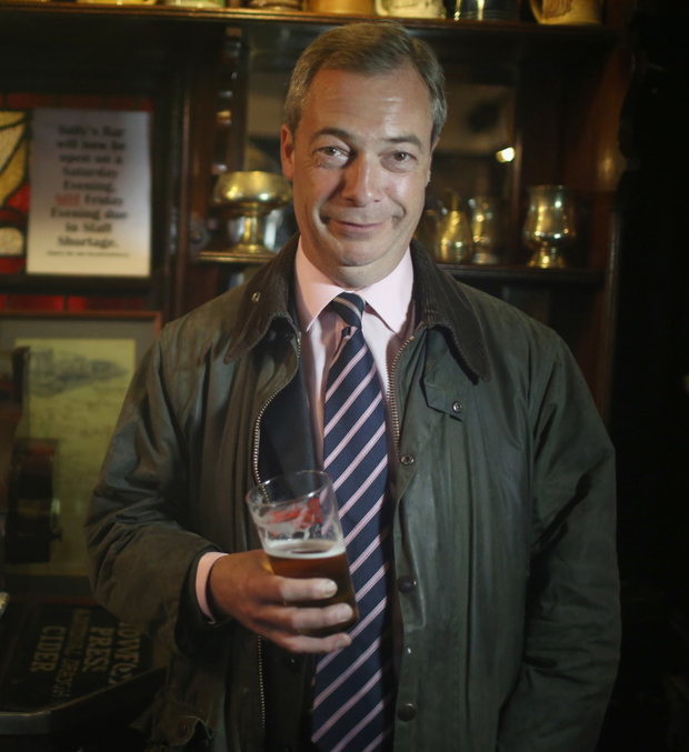 Nigel Farage, who likes nothing better than being photographed with a pint in one hand and a fag in the other, has become a diplomatic kingmaker