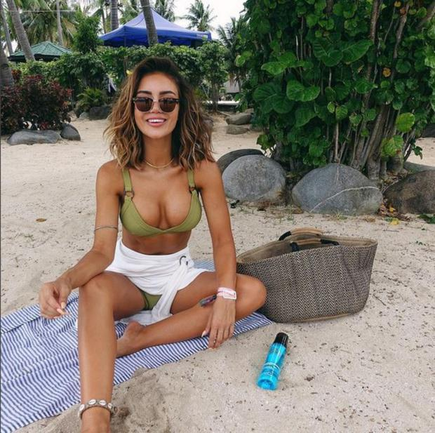 Beach trend: Pia Muehlenbeck has established herself as the queen of InstaSit