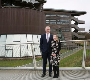 Rising from the ashes: Tech entrepreneur David Jeffreys, pictured with his wife, UL medical lecturer Dr Sarah Harney, says Limerick has a bright future. Photo: Liam Burke