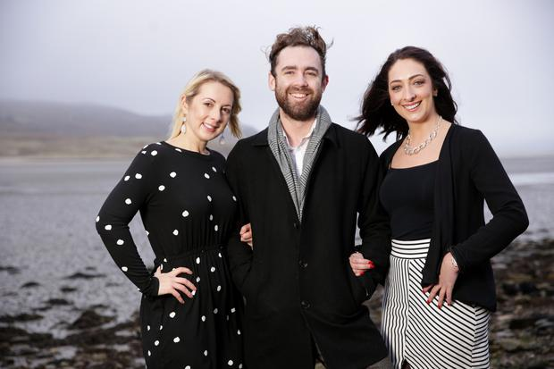 Exciting challenge: Cathy Cowan, Ciaran McGarvey and Aisling Arnold in Dunfanaghy. Photo: Gerry Mooney