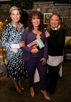 Pictured were Maria Walsh, former Rose of Tralee, Caroline McEnery, author and Norah Casey. Photo: Colm Mahady / Fennells