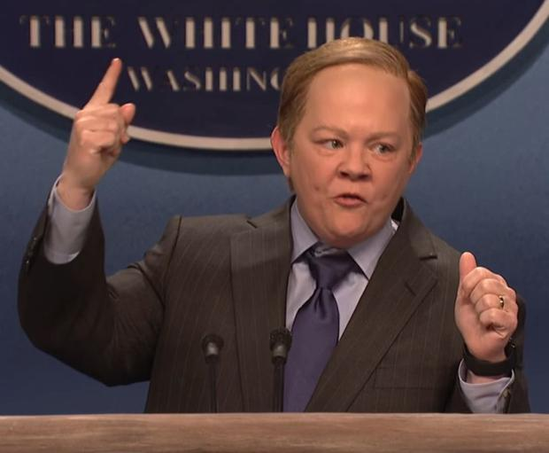 Ruffling feathers: Melissa McCarthy as Sean Spicer