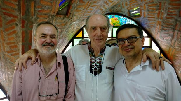 Victor Lotufo, architect of the chapel in City of the Angels, Fr Pat Clarke and lawyer for the Shanty Town Defence Movement (MDF) Dr Miguel Afonso