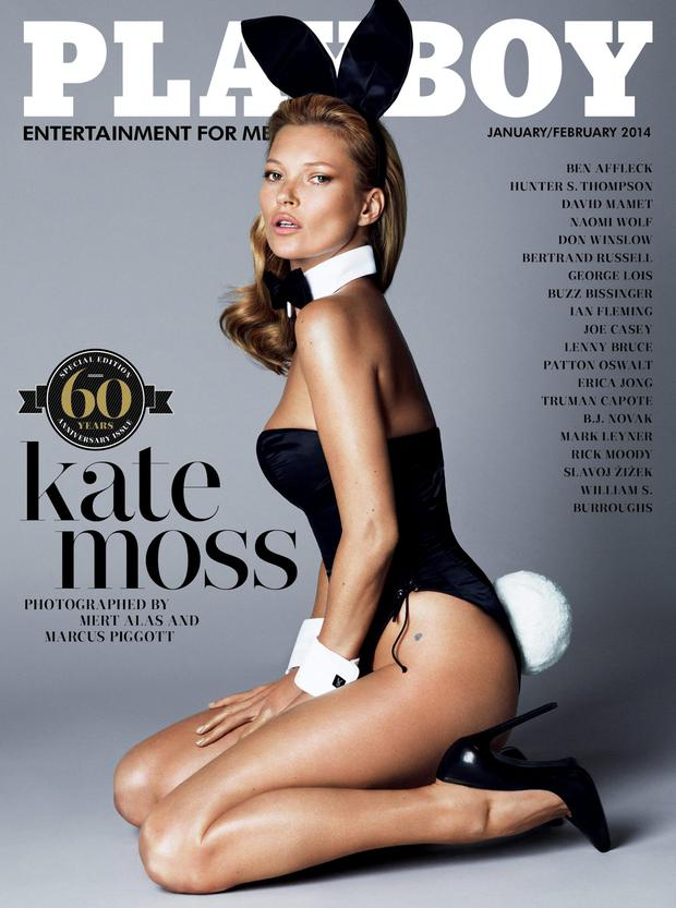 Kate Moss's iconic shoot for the cover of Playboy