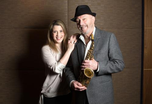 Keith Donald and his daughter Alex are very close and creative. Photo: David Conachy