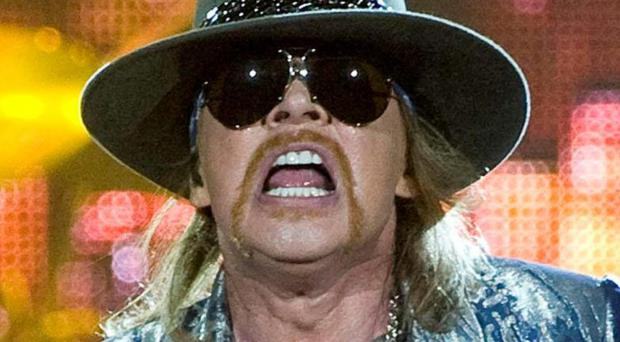 Axl Rose is known for his angry, paranoid lyrics and piercing screams