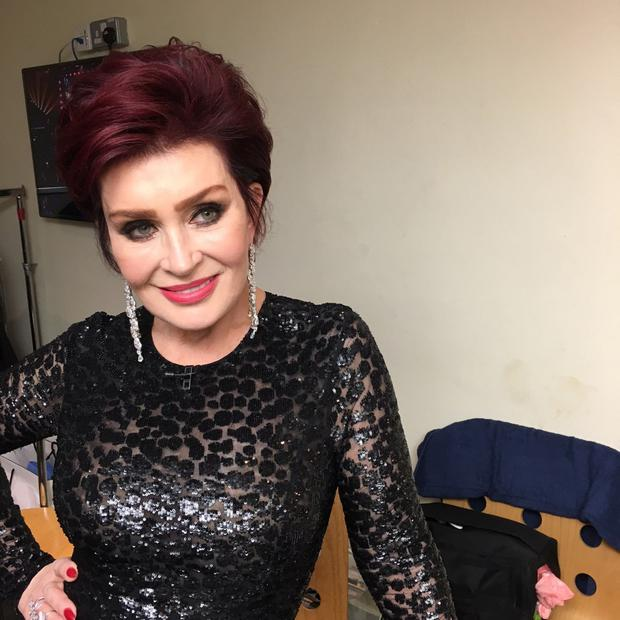 Sharon Osbourne backstage at the x Factor in January
