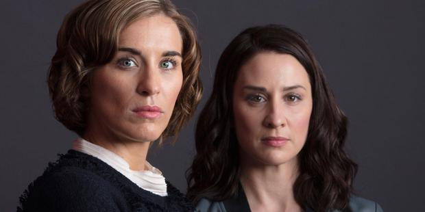 Telly rivals: Paula (Vicky McClure), and Ellen (Morven Christie) in BBC's The Replacement