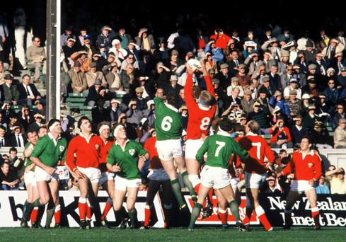 Bad day for the Irish: Wales and Ireland in action during the 1987 Rugby World Cup in New Zealand
