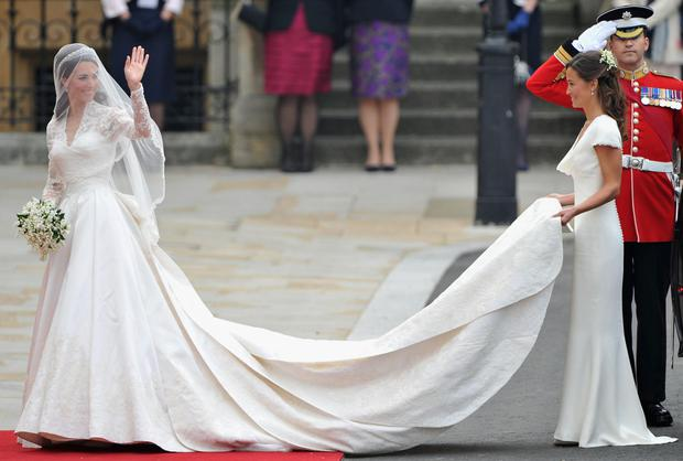 Thou shalt not steal the show: Pippa lends Catherine a hand on her wedding day
