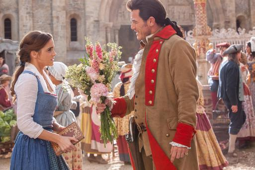 Disney debut: Emma Watson and Luke Evans in Beauty and the Beast